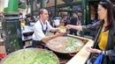 Рис и спаржа рис и горох приготовление двух Risotto Лондонская уличная еда