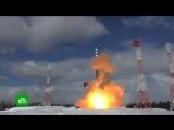 Испытания баллистической ракеты «Сармат» на космодроме Плесецк