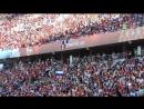 Волна болельщиков на стадионе Фишт