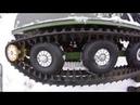 По снегу! Мотобуксировщик 2018! Всесезонный KOiRA - Т на резиновых гусеницах - прет не по детски