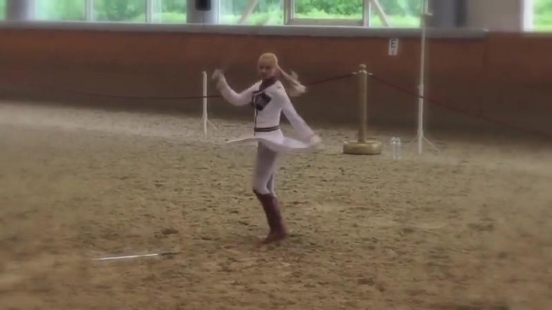 Выступление Изабеллы в Императорских конюшнях.