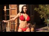 Charlotte Springer XXX red bikini