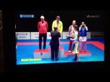Награждение Инги Шерозии. 1 место на этапе Серии А Karate 1 2017, Окинава