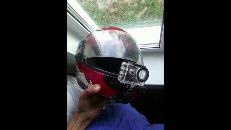 КАК ЗАКРЕПИТЬ ЭКШН КАМЕРУ ВПЕРЕДИ ШЛЕМА How to put action camera in moto helmet