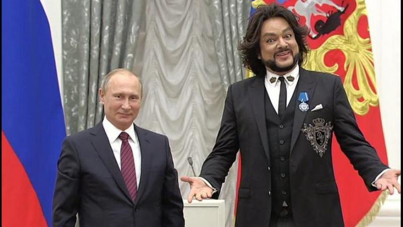 Получая госнаграду под песню Ты, артист-вокалист Киркоров рассказал о своих успехах