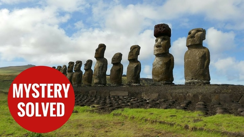 The mystery of how Easter Island statues red hats have been solved