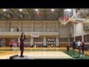バスケロボ、シュート対決でアルバルク東京のプロ選手に勝利