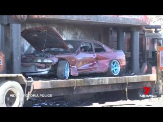 Уничтожение авто австралийских стритрейсеров (vk.com/fixter)