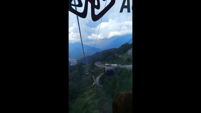 Роза хутор спуск с высоты 2320метров