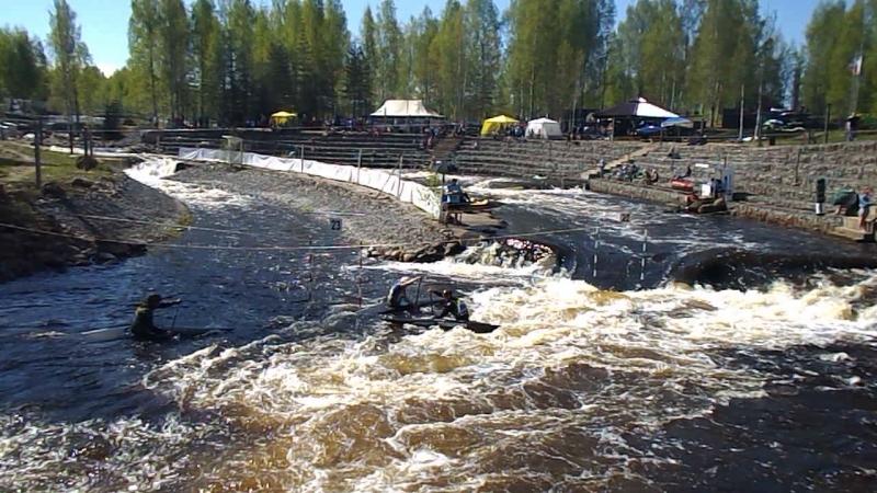 Финал чемпионата России по гребному слалому Окуловка