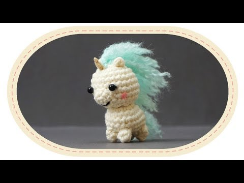 Вязаный единорог амигуруми. Crochet unicorn amigurumi.