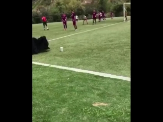 May 12: Fan taken video of Justin playing soccer in Playa Vista, California.