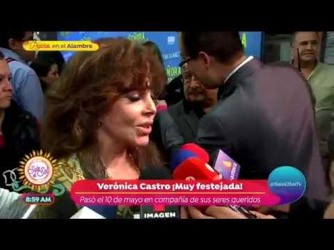 ¿Verónica Castro aconseja a su hijo para no lucir con kilos de más? | Sale el Sol