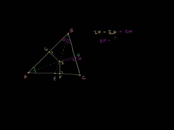 Окружность вписанная в треугольник