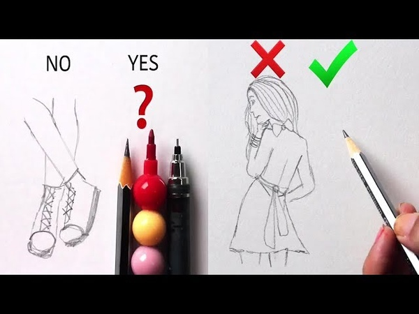 DOs DON'Ts How to Draw Easy Step by Step / Art Drawing Tutorial / part 8