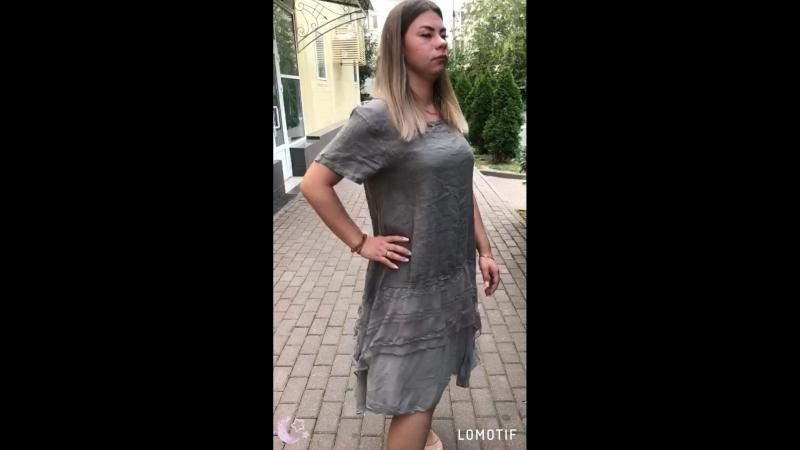 Платье батал лён