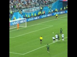 Нигерия - Аргентина. Мозес забивает пенальти