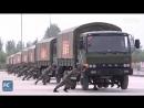 Как разворачивают колонну грузовиков в китайской вооруженной полиции