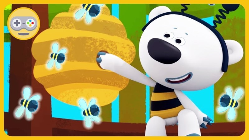 Детский уголок Kids'Corner * Как Мимимишки Тучка и Кеша мёд добывали * Ми-ми-мишки на Kids PlayBox