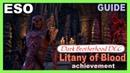 Litany of Blood Guide [Dark Brotherhood DLC] ESO Achievement