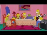 Гомер Симпсон играет на бас-гитаре