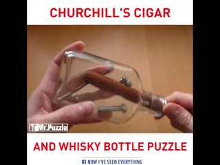 Churchill's cigar and whiskey bottle puzzle
