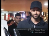 He did it again! - @iHrithik winks for camera at airport ️ - HrithikRoshan AirportSpotting