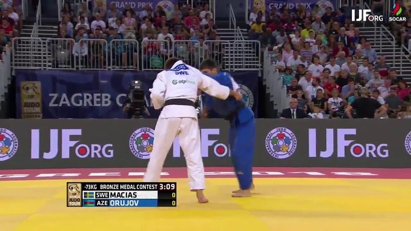Tommy Macias SWE Rustam Orujov AZE 01 -73kg Zagreb Grand Prix 2018 Bronze