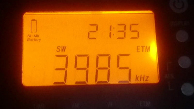 3985 kHz-Radio Slovakia International(Kall-Krekei)(Germany)~1859km