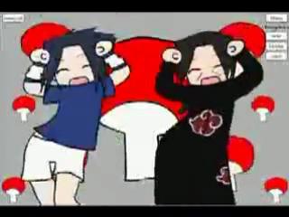 Итачи и Саске танцуют под карамель данс^^