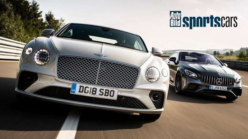 TRACK BATTLE 2018 Bentley Continental GT vs Mercedes AMG S63 Coupé AUTO BILD SPORTSCARS