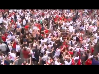 England Fans singing Gala's Freed from desire on fire in Russia 2018