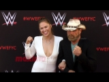 Ronda Rousey and Shawn Michaels WWEs First-Ever Emmy FYC Event Red Carpet