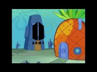 ARMY VS EXO-L (Squidward VS Spongebob) BTS MEME.mp4