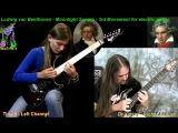 DUO Tina S &amp Dr Viossy - Moonlight Sonata Ludwig van Beethoven ( 3rd Movement )