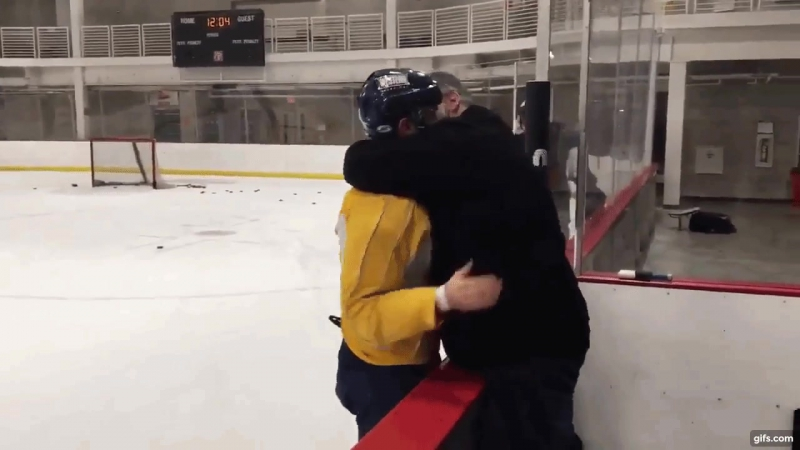 USA's Bobby Butler tells his dad he made the 2018 Olympic hockey team