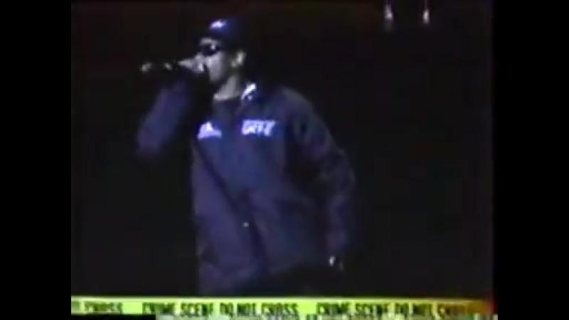 Eazy E Eazy Er Said Than Dunn 1989 Live on Stage Richmond Virginia