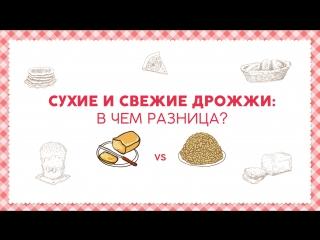 Сухие и свежие дрожжи_ в чем разница [sweet  flour]