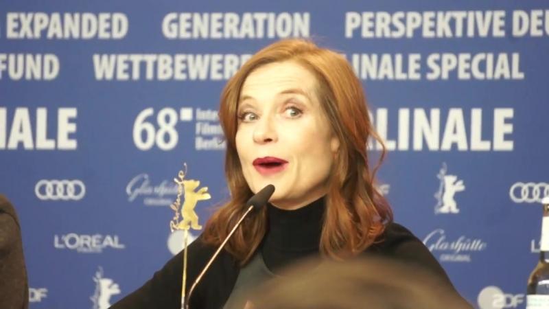 Isabelle Huppert donne son avis sur laffaire Weinstein à la Berlinale
