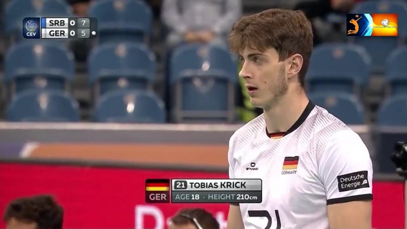 TOBIAS KRICK indomitable - the new star of German volleyball -