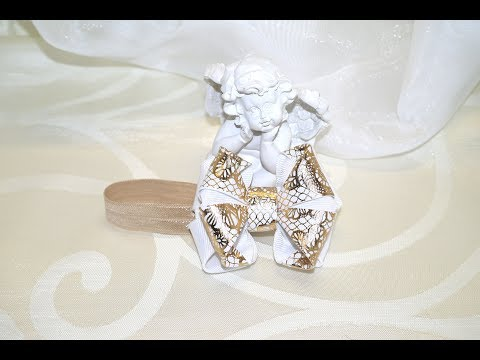 гулька канзаши из ленты 4 см мастер класс bow to bun DIY