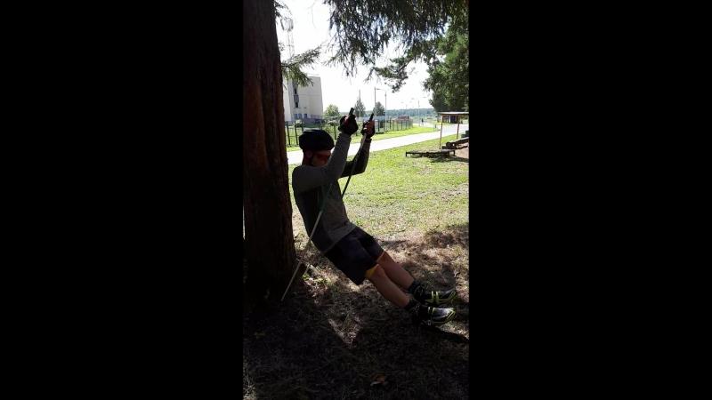 Силовое упражнение для лыжников