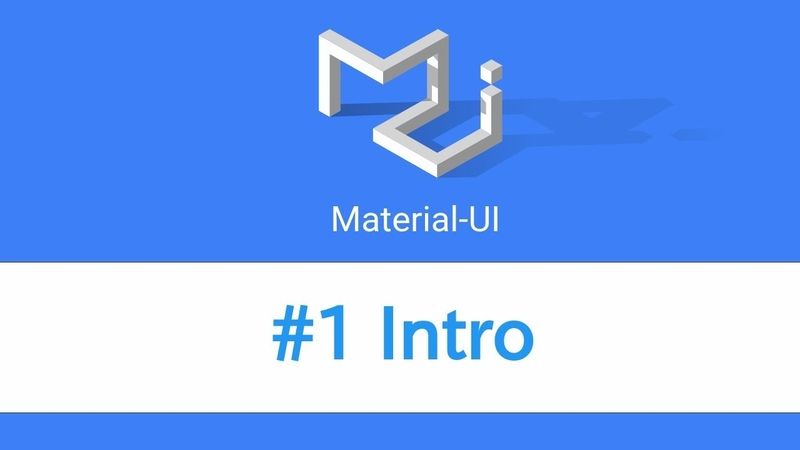 Learn React Material UI - 1 Intro