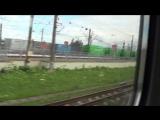 Поездка на поезде Колибри продолжается. Едем из Шушар в Пушкин.