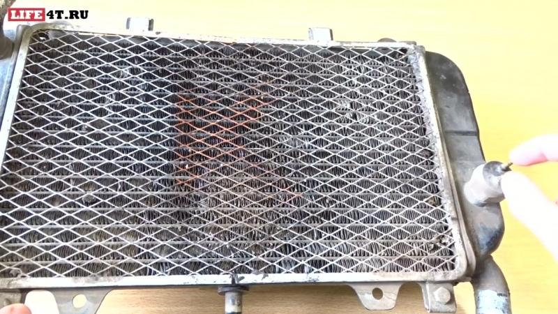 Система охлаждения мотоцикла. Радиатор. Помпа. Термостат. Расширительный. Антифр