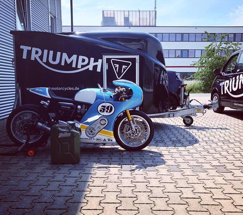 Mellow: драг-байк Triumph Thruxton R Phantom Blaze