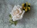 Заколки зажимы для волос с цветами из фоамирана