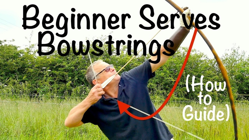 How to Centre Serve a Longbow String. Beginner serves bowstrings. How to do it guide.