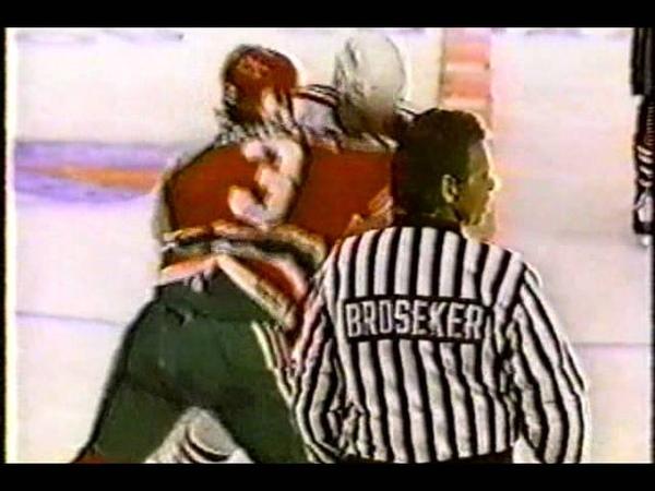 Ken Daneyko vs Tie Domi Feb 13, 1991