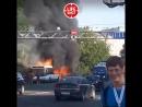 В Питере на проспекте Обуховской обороны как спичка сгорел рейсовый автобус гармошка